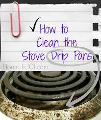 Clean Electric Cooktop Dirty Drip Pan Blues Home Ec 101