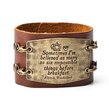 bracelet cuff leather images Leather statement cuff thinkgeek jpg