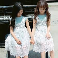 kids dresses for girls cute one piece dress lace cotton party