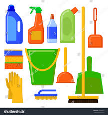 house cleaning tools cleaning elements home stock vector 554455831