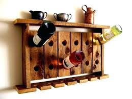 wine rack wall mount wine rack target diy wood wall mounted wine