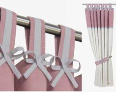 Pink And White Curtains For Nursery Pink And White Nursery Blackout Curtain I Tab Top Linen Panel With