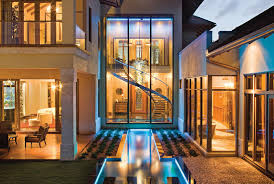 exotic mansion in florida with soothing water theme idesignarch