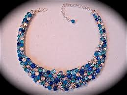 blue crystal necklace images Tropical blue opal crystal statement necklace the crystal rose jpg