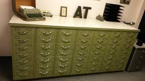 Vintage Industrial File Cabinet Vintage Industrial Steelcase Index Card Filing Cabinet Set 49