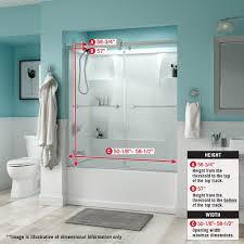 delta shower doors sd3276666 linden 60