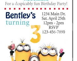 minions birthday party invitation twins siblings