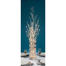 Lighted Branches Silver Glitter Branch Battery Operated Led Lighted Branches