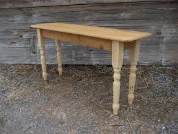 salvaged wood console table reclaimed barn wood sofa table with turned legs