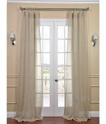 open weave natural linen sheer curtains ds