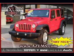 jeep mercedes red 2014 jeep wrangler unlimited sport 4wd for sale in phoenix az