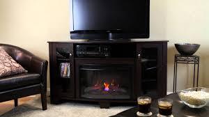 Home Decorators Hampton Bay Hampton Bay Media Electric Fireplace Midnight Cherry Youtube