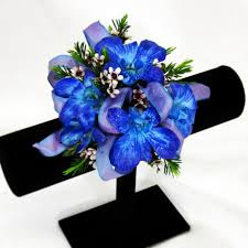 Blue Orchid Corsage Prom Gallery Graci U0027s Flowers U0026 Gifts