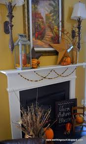 fall decorations on my mantle worthing court