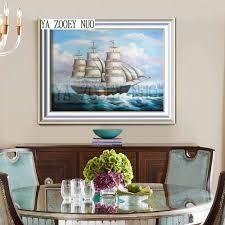 Sailboat Home Decor Online Get Cheap Sailboat Paintings Aliexpress Com Alibaba Group