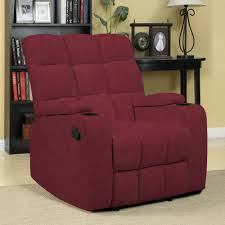 Oversized Leather Recliner Chair Furniture Comfortable Red Leather Recliner On Cozy Berber Carpet