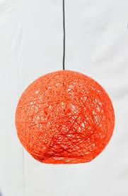 orange sphere modern pendant lamp globe pendant light