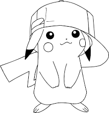picachu coloring pages kids download 9355