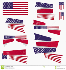 Us Flag Vector Free Download Red White Blue American Flag Ribbons And Banners Stock Vector