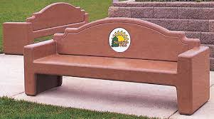 Engraved Benches Westlake Concrete Bench Concrete Benches Concrete Furniture