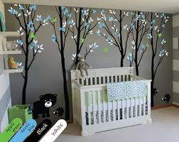 Animal Wall Decals For Nursery Black Tree Blossom Animals Wall Stickers Vinyl Decal Nursery Baby