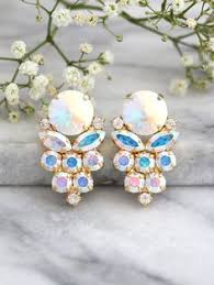 turquoise bridal earrings turquoise earrings mint opal earrings bridal green blue earrings