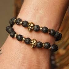 skull bracelet bead images Lava bead skull bracelets for strength during ancestral connection jpg