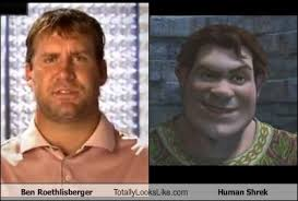 Ben Roethlisberger Meme - ben roethlisberger totally looks like human shrek cheezburger