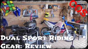 motorcycle riding apparel dual sport riding gear review youtube