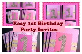Birthday Invitation Cards For Kids First Birthday Super Easy 1st Birthday Invitations Video Tutoral Youtube
