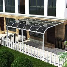 metal car porch portable car garage car shed design balcony stainless steel awning