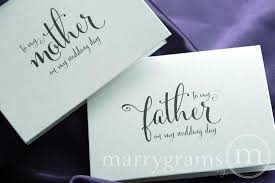 Card From Bride To Groom On Wedding Day Wedding Card To Your Mother And Father Parents Of The Bride Or