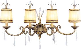 Gold Bathroom Vanity Lights Livex 8814 65 La Painted Vintage Gold Leaf 4 Light
