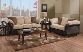 Sofas And Loveseats Sets by Leather And Micro Suede Three Tone Sofa And Loveseat Set