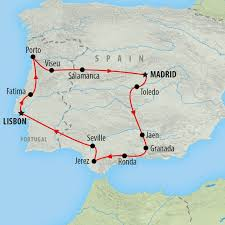 Portugal Spain Map by Portugal Tours And Holidays On The Go Tours