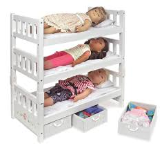 White Rose Furniture Badger Basket Toys 1 2 3 Convertible18 Inch Doll Bunk Bed With