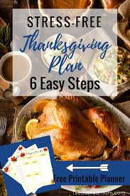 make a stress free thanksgiving plan in 6 easy steps treasured