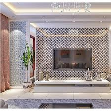 silver 304 stainless steel glass tile crackle tile tv background