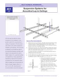 suspension systems for acoustical lay in ceilings