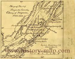 County Map Of Virginia Of Virginia 1755 1760