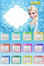 diy elsa frozen printable 2015 new year monthly calendar templates