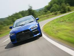 blue mitsubishi lancer 2008 mitsubishi lancer evolution blue front speed tilt