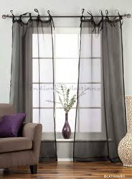Tie Top White Curtains Tie Top Sheer White Curtains Decoration And Curtain Ideas