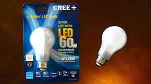 Led Night Light Bulb by Cree 4 Flow 10watt Soft White A19 Led Light Bulb Youtube