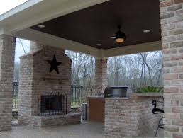 home exterior outdoor fireplace designs in stacked style for