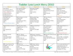 Quick Toddler Dinner Ideas Toddler Menu Sample Toddler April Lunch Menu 2010 Quick