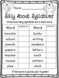 syllable count clap the syllables and color the correct number of