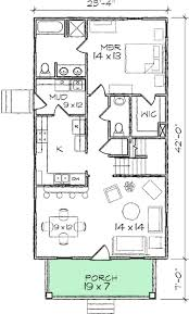 floor plans for narrow lots narrow lot bungalow home plan 10030tt architectural designs