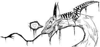 emo dragon sketch by killer beast on deviantart