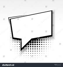 white blank square template comics book stock vector 613204160